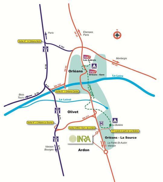 Accès INRA Orléans