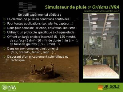 Simulateur de pluie en une diapo